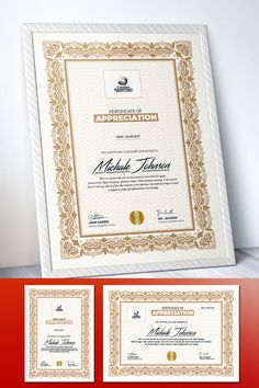 This Certificate Template is professionally organized and labelled so every beginner can edit it like a pro. You can change image, text, logo and color very quick and easy. Certificate Of Appreciation, Certificate Of Achievement, Award Certificates, Layout Design, Web Design, Graphic Design, Certificate Design Template, Logo Creation