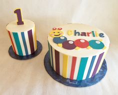 Birthday Cake | 1st Birthday | Smash Cake | Baby Einstein | Buttercream | Fondant appliques | Baked Custom Cakes