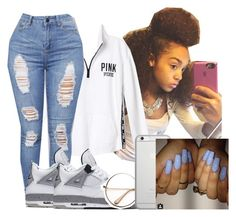 """""""Victoria Secret"""" by heyitsamber115 ❤ liked on Polyvore featuring Victoria's Secret PINK, NIKE and Native Union"""