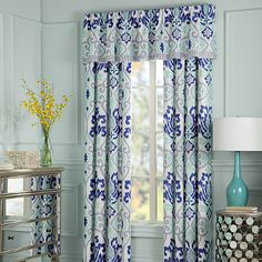 "Anthology™ Jolie Window Treatment - BedBathandBeyond.com  $80 for 84"" panel"