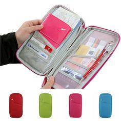 Korean Style Passport Wallet Polyester Travelus Multifunction Credit Card Package ID Holder Travel Storage Bag #Affiliate
