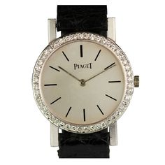 Piaget Lady's White Gold and Diamond Wristwatch circa 2000   From a unique collection of vintage wrist watches at http://www.1stdibs.com/jewelry/watches/wrist-watches/