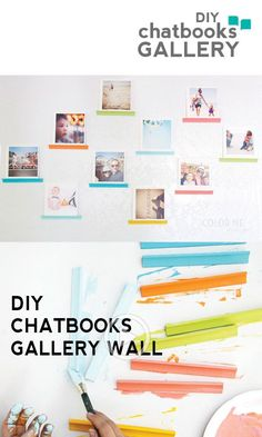 A fun DIY gallery wall using Chatbooks. {A quick youtube video!}