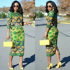 Check out these modern african fashion African Print Dresses, African Fashion Dresses, African Print Fashion, Africa Fashion, African Attire, African Wear, Tea Length Skirt, Africa Dress, African Traditional Dresses