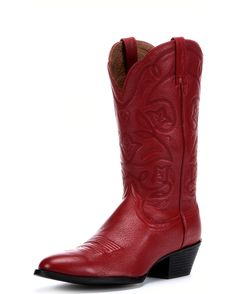 <p>The West is home, and these are its boots. They feature a classic R-toe for a spirited look steeped in Cowgirl country tradition. An elegant stitch pattern, dress rubber sole, and the comfortable ATS footbed make this a wonderful boot for a day or night on the town.</p>