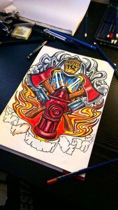 Firefighter Tattoo by McRDesign