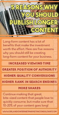 In today's world of bite-sized social posts, it may be tempting to believe that long-form content is dead. Nothing could be further from the truth, and if you a(.