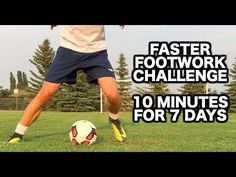 This video will give you a soccer footwork routine that will only take 10 minutes per day using 10 different soccer drills that will help you improve your soccer footwork quickly. Soccer Footwork Drills, Soccer Drills For Kids, Soccer Training Drills, Basketball Tricks, Soccer Workouts, Soccer Skills, Soccer Coaching, Soccer Tips, Kids Soccer
