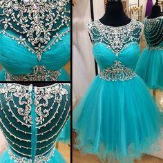 Short blue rhinestones sparkly Boho Vintage casual homecoming prom dre – LoverBridal #casualshort