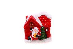 Ewa&Ja Świecznik domek z Mikołajem trzymającym prezent - Sklep internetowy