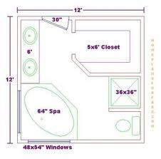 12' x 12' master bathroom and closet - Google Search