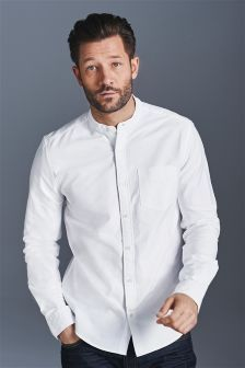 White Oxford Grandad Shirt