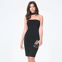 Choker Black Bodycon Dress