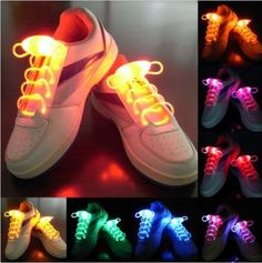 Colors LED Flash Luminous Light Up Glow Shoelaces Shoe Laces DISCO Party Skating in Clothing, Shoes & Accessories, Unisex Clothing, Shoes & Accs, Unisex Accessories Light Up Shoes, Lit Shoes, Crazy Shoes, Me Too Shoes, Dressing Design, Fashion Mode, Custom Shoes, Sock Shoes, Shoes Online