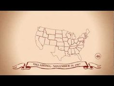 Cool animation of The 50 States in Order of Statehood in 3min 30sec. CC Cycle 3 Geography.