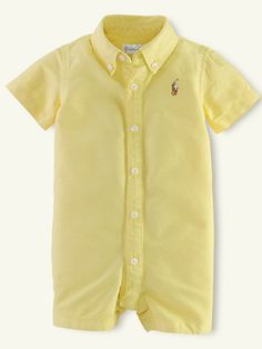 Cute yellow shortall for baby.