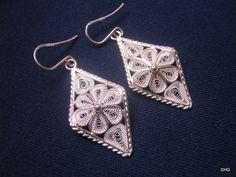 Handmade Sterling Silver Filigree Earrings by TrulyFiligree