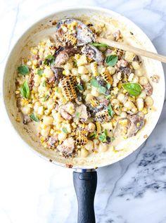summer skillet gnocchi I howsweeteats.com