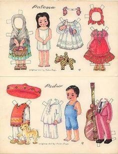 recortables, muñecas de papel para vestir, paper dolls – merimartinez1 – Webová…