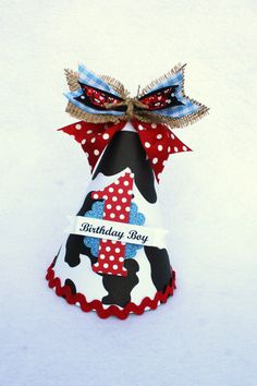 Items similar to Little Cowboy Party Hat in Black White Red and Blue polka dot cow print pony party on Etsy Cowboy Theme Party, Cowboy Birthday Party, Farm Party, 1st Boy Birthday, Birthday Hats, Party Fun, Party Time, 1st Birthday Party Themes, Kids Party Themes