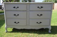 FRENCH PROVINCIAL DRESSER GRAY,SHABBY CHIC,6 DWRS in Playa Del Rey, Los Angeles ~ Krrb Classifieds