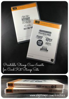 Printable Stamp Case Inserts for stamp sets that come in kits