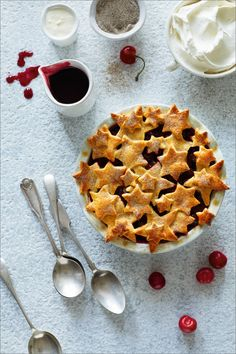 NOMU is an original South African food and lifestyle concept by Tracy Foulkes. Vanilla Bean Ice Cream, Shortcrust Pastry, Sweet Cherries, Homemade Vanilla, Cake Flour, Pie Dish, Let Them Eat Cake, A Food