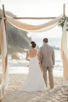 69 Adorable Beach Wedding Arches | HappyWedd.com