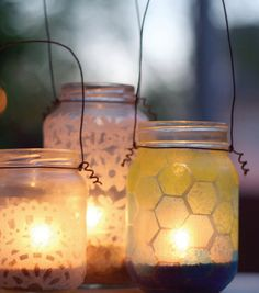 Hexagon Projects // DIY Summer Lanterns