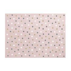 Dywan Dots XXL różowo-szary