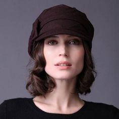 Fashion women bow beret hat for women autumn winter hats coffee