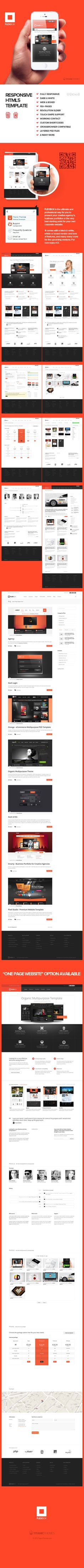 """FlexBox - Responsive HTML5 Template *** """"FLEXBOX is the ultimate and professional way for you to present your creative agency's, business portfolios or the very best starting point for your own corporate website. It comes with a black & white, whide or boxed version and tons of features, and many many more for the upcoming versions. For now enjoy v1.1."""" by Nicola Mihaita, via Behance"""