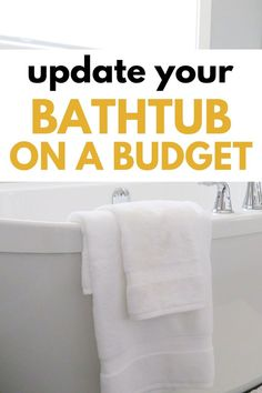 Home improvement can happen on a budget! Update your bathtub and shower to refresh your bathroom and make it look new again. Tips to DIY bathroom projects. Tub Faucet, Shower Faucet, Shower Tub, Bathtub, Floors And More, Old Bathrooms, Wall Paint Colors, Painted Floors