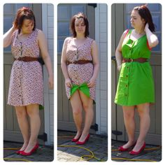Reversible button up Eucalypt dress!! // Love-Teach-Sew