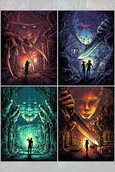 """Horror Icons Set"" by Dan Mumford - Hero Complex Gallery Horror Posters, Horror Icons, Horror Comics, Movie Posters, Dan Mumford, Horror Artwork, Images Gif, Scary Art, Creepy"