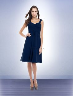 Bill Levkoff Bridesmaid Dress Style 155, Navy $152