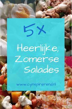 Salades! Als het warm weer is, eten wij het graag. Als heerlijke lunch, een verkoelende avondmaaltijd of lekker bij de barbecue. De afgelopen jaren heb ik al meerdere zomerse recepten gedeeld in mijn kookboekje. Vandaag deel ik daaruit deze 5 heerlijke, zomerse salades met jou! O.a. Witlofsalade, zoete aardappel salade en tonijnsalade! Ga snel naar Cynspirerend.nl Barbecue, Meat, Chicken, Blog, Barrel Smoker, Bbq, Blogging, Barbacoa, Cubs
