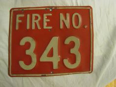 Vintage Fire Number Metal Sign by HayloftAntiques on Etsy, $80.00