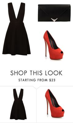 """<3"" by martina-vacca ❤ liked on Polyvore featuring New Look, Giuseppe Zanotti and Alexander Wang"