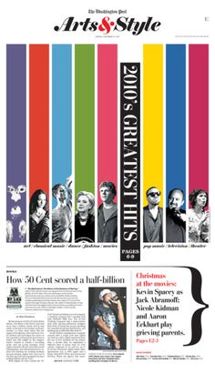 2010's Greatest Hits #Newspaper #Design #GraphicDesign