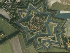 Bourtange: a Living Fortress - The Netherlands. Star Fort, Castle House, Walled City, Fortification, Ancient Architecture, Aerial Photography, Star Shape, Atlantis, Aerial View