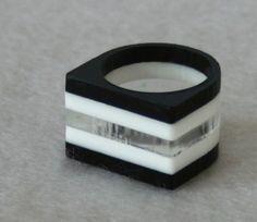 Laminated Flat Acrylic Ring 1 Medium by Weaselfactory on Etsy