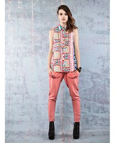 Lola vs Harper Independent Tribal Print Shirt - All Tops - Clothing -  The fabric is extremely soft and breathable!
