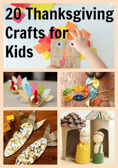 20 easy and fun Thanksgiving crafts for kids! #DIY
