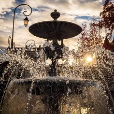 Fountain pierced by the ray of the rising sun  #fountain #ray #sun #nature #water #ocean #beautiful #sky #clouds #street #reflection #amazing #waves #sunset #sunrise #sky #nature #clouds #horizon #love #20likes #amazing #follow4follow #like4like #picoftheday  #photooftheday #France