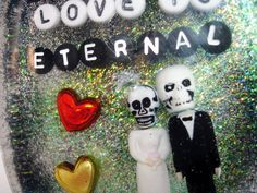Zombie Love is Eternal: art for your shower. $28.00, via Etsy.