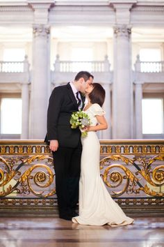 San Francisco City Hall wedding, intimate wedding, small wedding, short sleeved wedding dress, San Francisco wedding photography, Emily Scannell photography