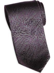 Egara Purple and Charcoal Narrow Tie