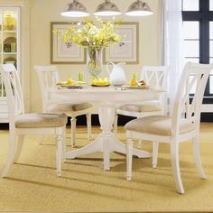 White Dining Room Table Get Perfect Design Of The White Dining Room Set – Designinyou Black Round Dining Table, White Round Dining Table, Round Dining Table Sets, Dining Set, Dining Ware, Lounge, Decoration, Dining Chairs, Side Chairs