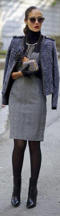 Business attire in tweed